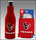 SET OF 2 HOUSTON TEXANS CAN & BOTTLE KOOZIE COOLER Review