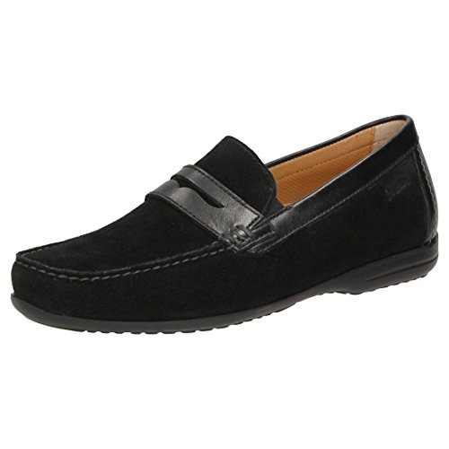 Sioux Mens Giufano-xl Mocassino, Nero