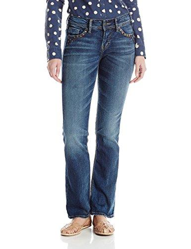 Silver Jeans Co. Women's Suki Curvy Fit Mid Rise Slim Boo...