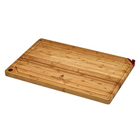 Amazon.com: firedisc bambú Tabla de cortar con afilador de ...