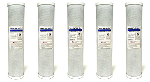 Hydronix CB-45-2005 NSF Carbon Block Filter 4.5'' OD X 20'' Length, 5 Micron (5 X CARBON BLOCK FILTER) by Hydronix