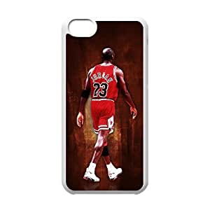 Iphone 5C 2D Personalized Phone Back Case with Michael Jordan Image