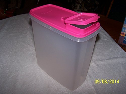 Tupperware Super Cereal Stor Container 20cup Clear with Pink Seal (Tupperware Super Cereal)