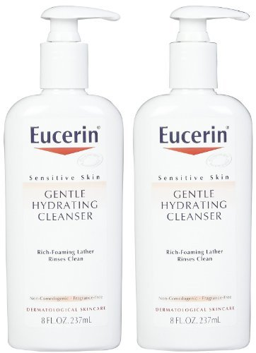 (Eucerin Gentle Hydrating Cleanser for Face & Body - 8 oz - 2 pk)