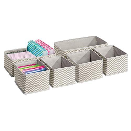 mDesign Soft Fabric Desk Drawer Storage Organizer for