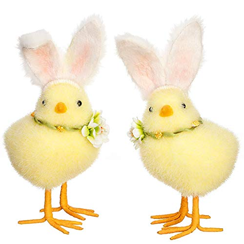Easter Chicks And Bunnies - RAZ Imports Easter Chicks Bunny Rabbit Ears Set of 2 7.5