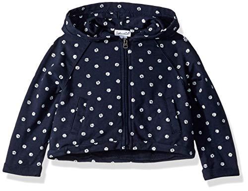 Splendid Little Girls' Kids and Baby Hoodie Sweatshirt, Navy Polka Dot 5/6