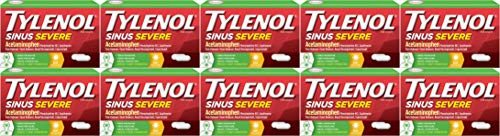 - TYLENOL Sinus Congestion & Pain, Severe Caplets Daytime Non-Drowsy 24 EA (10 Pack)