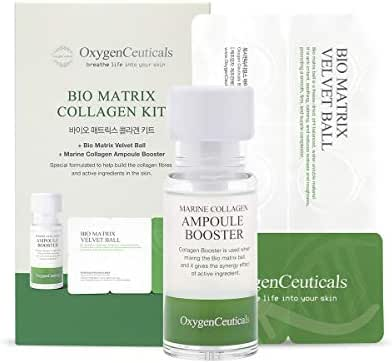 Bio Matrix Collagen Kit (Home Care Version), Anti Aging Ampoule from Highly Concentrated Marine Collagen Extracts, For Home Use, All Skin Types, Made in Korea