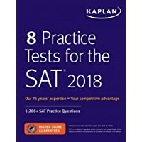 8 Practice Tests for the SAT 2018: 1200 + Sat Practice Questions