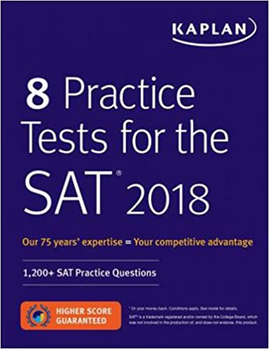 amazon 8 practice tests for the sat 2018 1 200 sat practice