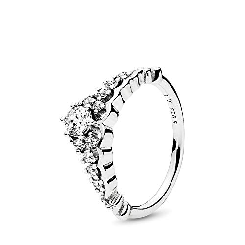 PANDORA Fairytale Tiara Ring, Sterling Silver, Clear Cubic Zirconia, Size 7