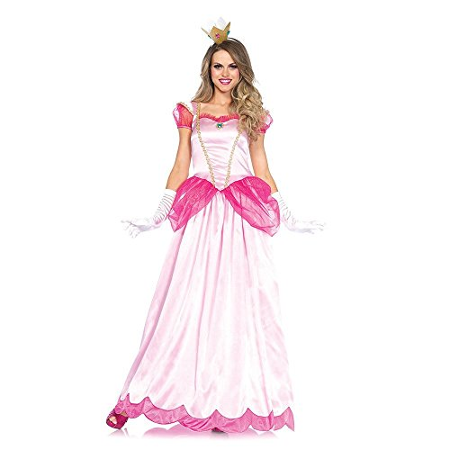 Leg Avenue Women's 2 Piece Classic Pink Princess Costume, Pink, X-Large ()