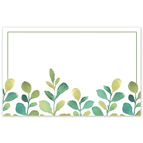 Watercolor Greenery Enclosure Cards / Gift Tags - 3 1/2 x 2 1/4in. (Floral Enclosure Cards)