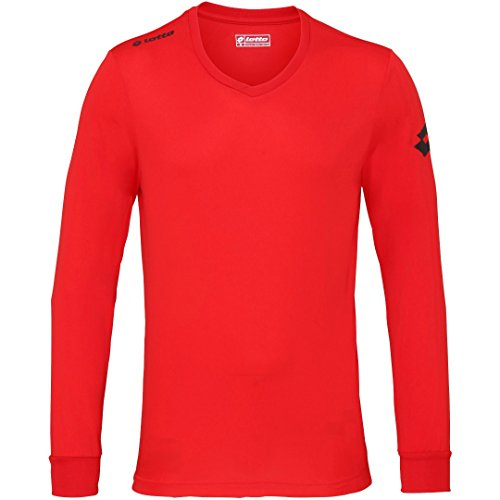 Lotto Mens Lt035 Jersey Long Sleeve Team Evo Flame Red 2Xl