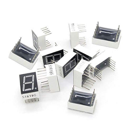 Yohii 12 Pcs Common Cathode 10-Pin 1 Bit 7 Segment 0.56