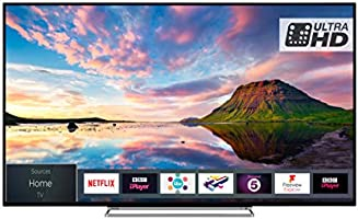 Toshiba 49U5863DB 43-Inch Smart 4K Ultra-HD HDR LED TV with Freeview Play - Black/Silver (2018 Model)