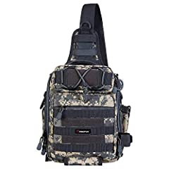 Specification of Piscifun Fishing Tackle Bag: 1. Water-resistant 1000D high density nylon fabrics, made with high-end equipment to ensure its safety.  2. The abrasion resistant and indestructible KAM buckle and SBS zippers (Full-length double...