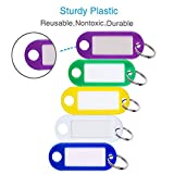 Uniclife 40 Pack Tough Plastic Key Tags with