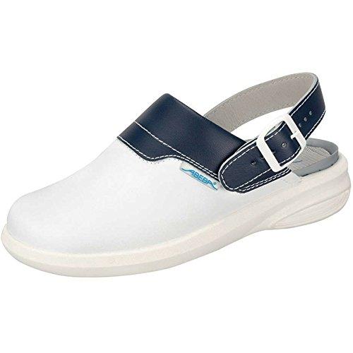 Mujer de piel Unisex Abeba cityboard zuecos calzado de trabajo zapatos nuevos kissimoto Blanco blanco Talla:47
