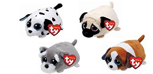 Teeny TY Spangle Dalmatian dog, Candy Pug dog, Gypsy Brow...