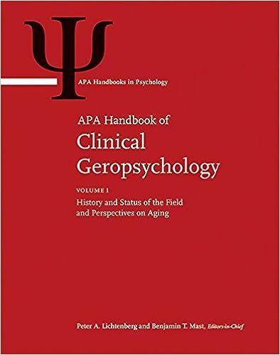 Book jacket for APA Handbook of Clinical Geropsychology