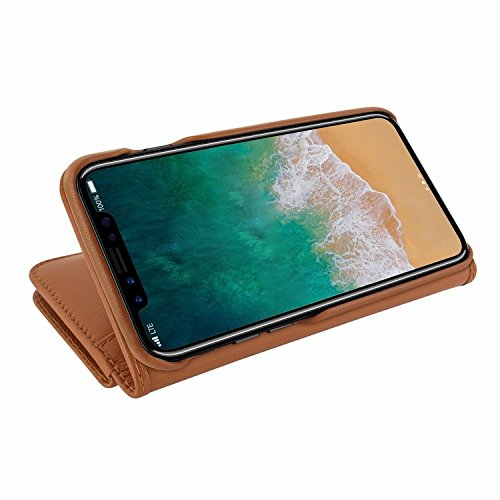 Piel Frama 793 Tan WalletMagnum Leather Case for Apple iPhone X by Piel Frama (Image #5)