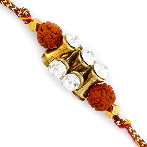 Aapno Rajasthan Rudraksh Rakhi with Damroo Style Beads (B07TP2LS82) Amazon Price History, Amazon Price Tracker
