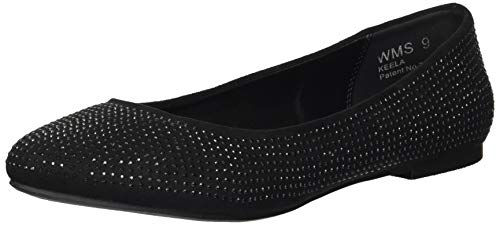 - Report Women's Keela Ballet Flat, Black Fox Suede, 9 M US