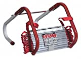 Emergency Ladder, Escape - 13 Ft, 2 Storey, Steel, Chrome/Red