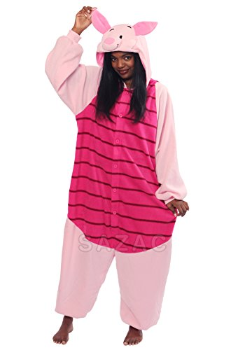 Costumes Adults Pooh Piglet And For The Winnie (Piglet Kigurumi,Pink,Standard)