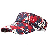 Laimeng_World Dealstock Plain Men Women Sport Sun Visor Adjustable Cap (Camouflage 2)
