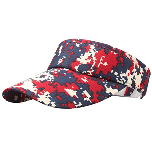 (Laimeng_World Dealstock Plain Men Women Sport Sun Visor Adjustable Cap (Camouflage 2))