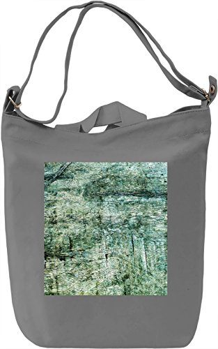 Wood Print Borsa Giornaliera Canvas Canvas Day Bag| 100% Premium Cotton Canvas| DTG Printing|
