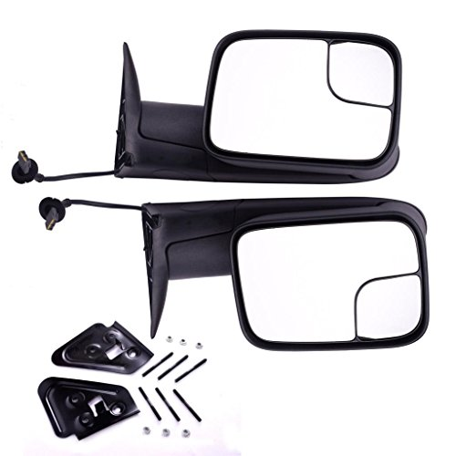 97 Dodge Ram Truck Mirror (DEDC Dodge Towing Mirrors Dodge Ram Tow Mirrors Pair Power Operation Manual Folding For 1994-1997 Dodge Ram 1500 2500 3500 Truck 1994 1995 1996 1997)