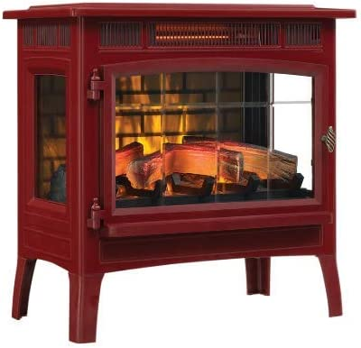 Cinnamon DFI-5010 Duraflame 3D Infrared Electric Fireplace Stove with Remote Control