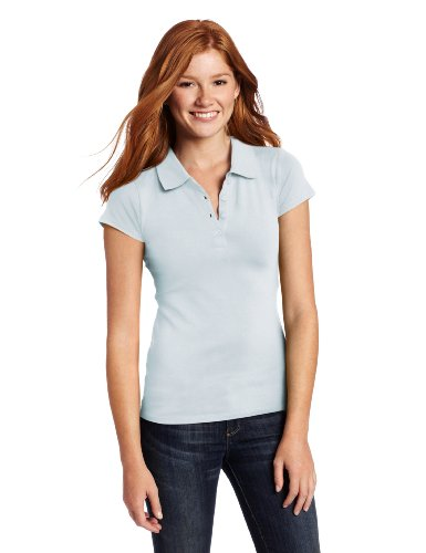 BASIC Southpole Juniors Basic Solid Pique Polo, Baby Blue, - Pique Polos Girls Solid