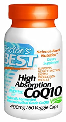 High Absorption CoQ10 w/ Bioperine (400mg)