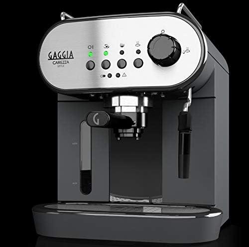 Gaggia RI8523/01 - Cafetera (Independiente, Máquina espresso, 1,4 L, Dosis de café, De café molido, 1900 W, Negro, Acero inoxidable): Amazon.es: Hogar
