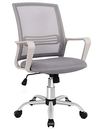 Office Chair, Mid Back Mesh Office Computer Swivel Desk Task Chair, Ergonomic Executive Chair with Armrests (For Computer Chairs Desks)