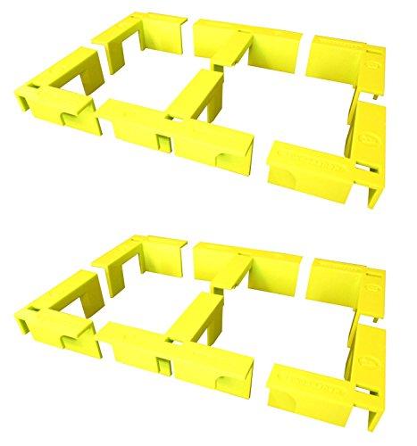 (EZ Woodshop Corner Clip 12-Piece Box/Cabinet/Shelf Corner Clamp Set )