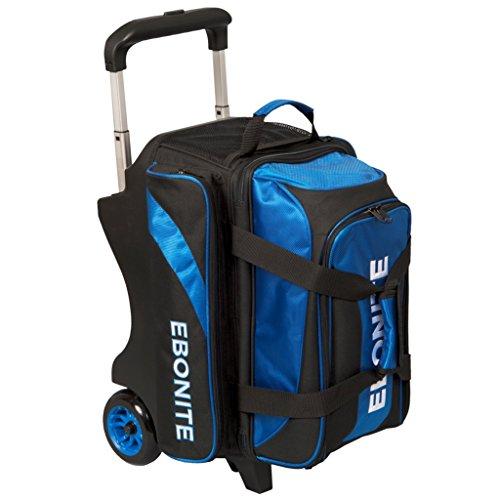 Ebonite Equinox Double Ball Roller Bowling Bag, Black/Royal