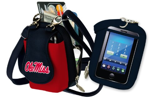 - Charm14 NCAA Mississippi Ole Miss Rebels Purse Plus Touch