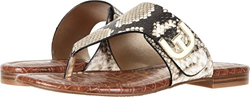 (Sam Edelman Women's Barry Natural Royal Snake Print Leather 8.5 W US)