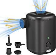 Mini Air Pump, Rechargeable Backpacking Air Pump with USB Cable, Fast Charging Cordless Inflatable Bed Pumps f