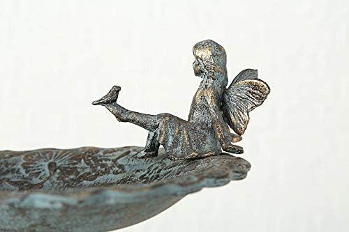 CasaJame Maison Ameublement D/écoration Jardin Loggie Fontaine Bain Abreuvoir pour Oiseaux Sauvages Fonte 30x30x64cm