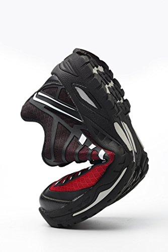 Sportive Di Rosso Acciaio Lavoro Da Donna Punta Tqgold® Antinfortunistiche Scarpe In Con Z Uomo Sicurezza Nero qvwfFvT