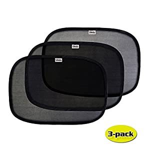 GAMPRO 3-Pack Car Window Sun Shade, 2-Layer Pop-Up Car Window Shade with Static Cling Technology for Your Kids and Pets, Keeps Harmful UV Rays Away From Your Family