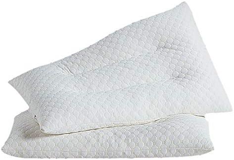 Látex Almohadas Para dormir, Rallado Ajustable loft Suave Acolchado Almohadas cervicales Espuma de la memoria Doble Almohada de fibra Ortopédicos Dormir Almohadas Pack 2-Blanco 48x74cm(19x29inch): Amazon.es: Hogar