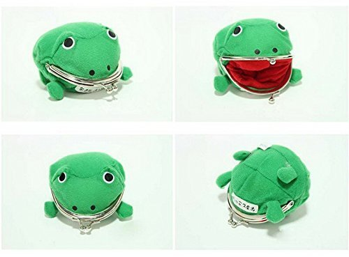 Cute Green Frog (Naruto Cute Green Frog Coin Bag Wallet Purse Cosplay Anime Plush Toy Funny)
